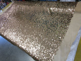 Drop Sequin Fabric / Champagne / Sold By The Yard