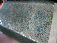 Drop Sequin Fabric / Shiny Mint / Sold By The Yard