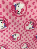 Hello Kitty & Teddy Medallions By Springs Creative Fleece Printed Fabric - By The Yard