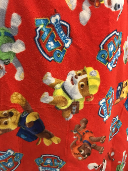 "Paw Patrol Rescue Fleece Fabric - 60"" Wide - Style. Sold By The Yard Red."