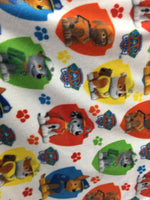 "Paw Patrol Rescue Fleece Fabric - 60"" Wide - Style. Sold By The Yard White"