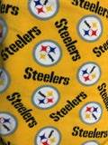 NFL Pittsburgh Steelers Toss By Fabric Traditions Fleece Printed Fabric - By Yard