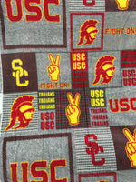 University of Southern California Trojans Fleece Fabric. Sold By The Yard