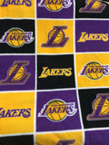NBA Los Angeles Lakers By Camelot Fabrics Fleece Printed Fabric - Sold By The Yard