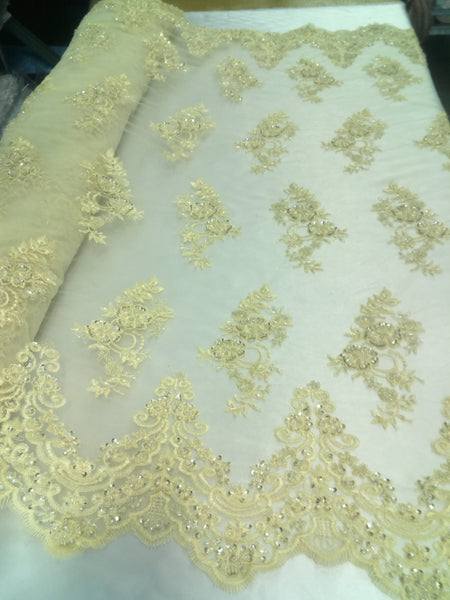 *NEW* CREAM FLORAL CORDED SILKY TAFFETA BRIDAL DRESS//CUSHION//UPHOLSTERY FABRIC