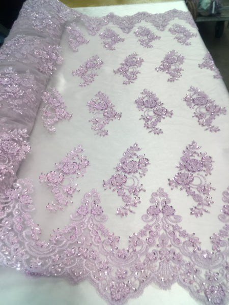 Shop Beaded Mesh Lace Fabric Lace By The Yard Embroidered Lace With Beads And Sequins French Bridal Veil Winsome Orchid
