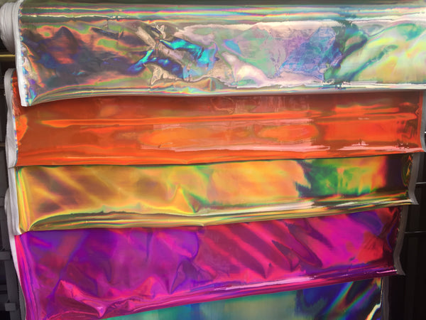 Holographic Laser Leather Fabric,Shiny PU Leather Fabric For Bags,Wallets,Holographic Leather.54'' Sold By The Yard. Just Choose Color Below