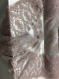 Luxury Designs Dk Dusty Rose Embroider Beaded On Nude Mesh Dress Wedding Decoration Bridal Veil Nightgown By Yard