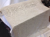 Bridal Dresses tablecloths night gowns Skirts prom Ivory Beaded Multi-Color Floral Bridal Lace Flower Mesh Dress Wedding Decoration