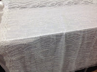 Bridal Beaded Fabric By The Yard White Lace Heavy Beads For Bridal Veil Flower Mesh Dress Top Wedding Decoration