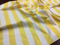 "2"" STRIPE DECK OUTDOOR FABRIC WATERPROOF AWNING TENT CANVAS BY YARD YELLOW WHITE"