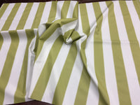 "2"" STRIPE DECK OUTDOOR FABRIC WATERPROOF AWNING TENT CANVAS BY YARD OLIVE IVORY"