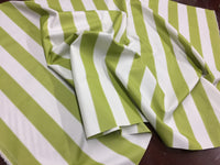 "2"" STRIPE DECK OUTDOOR FABRIC WATERPROOF AWNING TENT CANVAS BY YARD LIME WHITE"