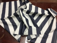 "2"" STRIPE DECK OUTDOOR FABRIC WATERPROOF AWNING TENT CANVAS BY YARD NAVY WHITE"