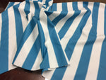 "2"" STRIPE DECK OUTDOOR FABRIC WATERPROOF AWNING TENT CANVAS BY YARD TURQUIOSE"