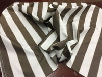 "2"" STRIPE DECK OUTDOOR FABRIC WATERPROOF AWNING TENT CANVAS BY YARD BROWN WHITE"