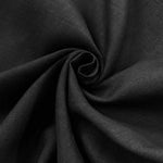 Linen Fabric Softened Linen Fabric by Yard Natural Linen Fabric Stonewashed Linen Fabric,Washed Linen Fabric Pure 100% Linen Fabric Black