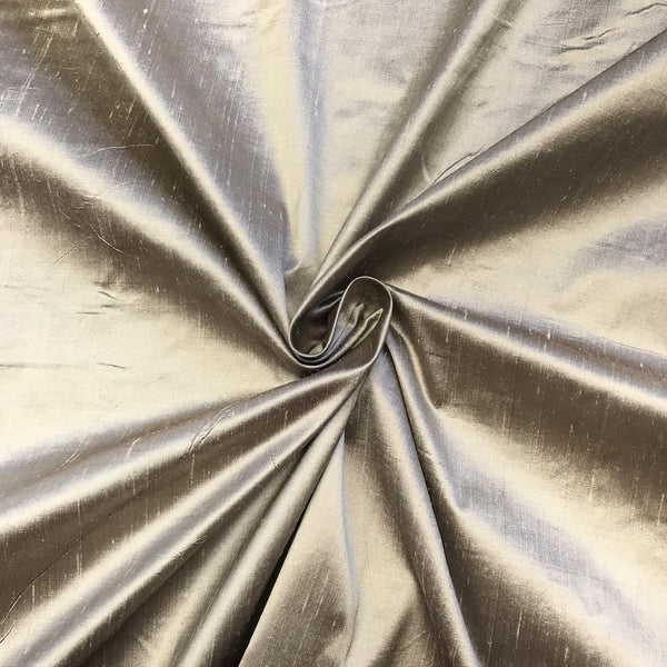 "100% Pure Silk Shantung Fabric 54""Wide BTY Drape Blouse Dress Craft Sold By The Yard. Metallic Gold"