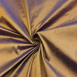 "100% Pure Silk Shantung Fabric 54""Wide BTY Drape Blouse Dress Craft Sold By The Yard. Purple Gold"