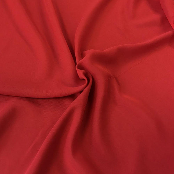 Red Chiffon Fabric Polyester Sheer 58'' Wide By the Yard for Garments, Decoration, Crafts special occasions, bridesmaid dresses and more.