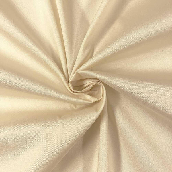 "Beige Polyester Taffeta Lining Fabric 54"" Wide Fabric Sold By The Yard."