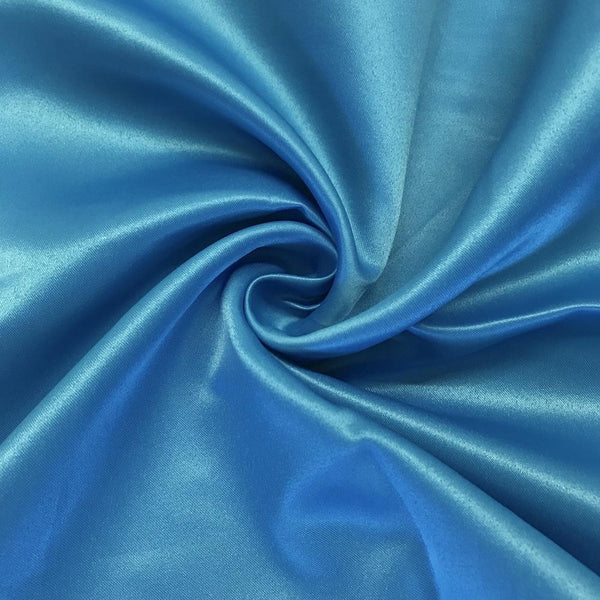 "Turquoise Matte Satin (Peau de soie) Dutchess Satin Fabric 60"" Inches 100% polyester By The Yard For Blouses, Dresses, Gowns and Skirts."