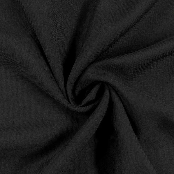 Black Chiffon Fabric Polyester Sheer 58'' Wide By the Yard for Garments, Decoration, Crafts special occasions, bridesmaid dresses and more.