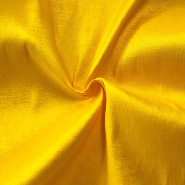 "Taffeta Stretch Fabric 2-Way Stretch 58"" Wide By The Yard (BRIGHT YELLOW)"