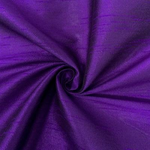 "Poly Dupioni Raw Silk Dupioni Fabric - 58/60"" - Sold By Yard - 100% Polyester. Purple"