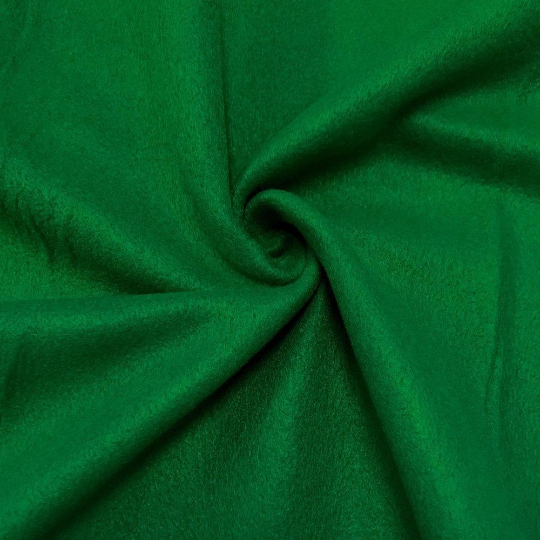"Solid Polar Fleece Anti-Pill Fabric Sold By Yard 60"" Width Winter Polar Blankets Covers 2 Sided Brushed. KELLY GREEN"