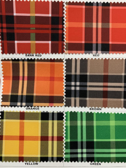 "Modern Plaid Design Print on Nylon Spandex 4way Stretch 58/60"" Sold by Yard. Select Color Below"