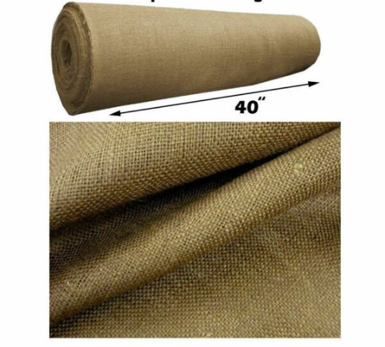 40-Inch Wide Natural Burlap Fabric. Choose Quantity Below.