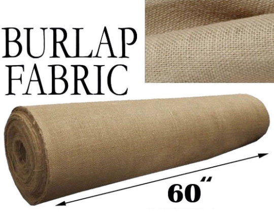 60-Inch Wide Natural Burlap Fabric. Choose Quantity Below.