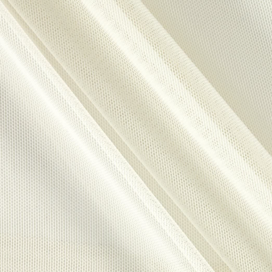 "Power Mesh Fabric Nylon Spandex 60"" wide Stretch Sold By Yard Ivory"