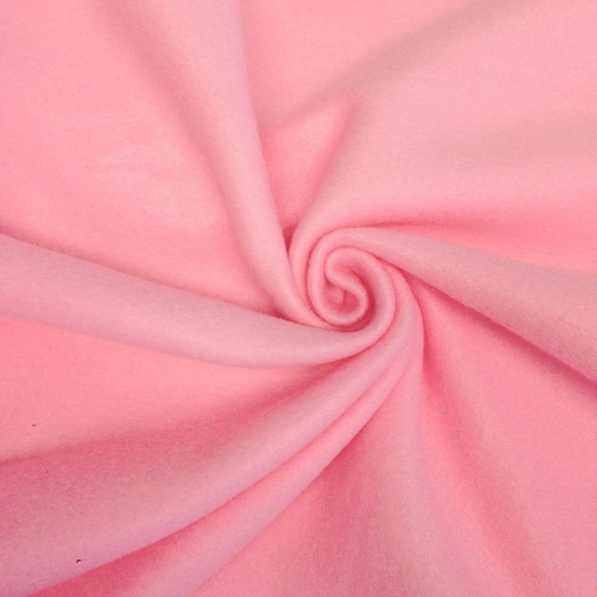 "Solid Polar Fleece Anti-Pill Fabric Sold By Yard 60"" Width Winter Polar Blankets Covers 2 Sided Brushed. PINK"