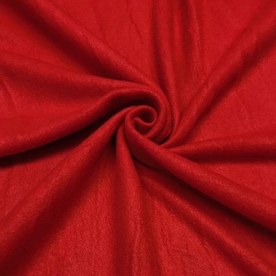 "Solid Polar Fleece Anti-Pill Fabric Sold By Yard 60"" Width Winter Polar Blankets Covers 2 Sided Brushed. RED"