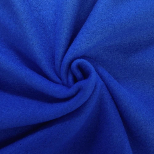 "Solid Polar Fleece Anti-Pill Fabric Sold By Yard 60"" Width Winter Polar Blankets Covers 2 Sided Brushed. ROYAL BLUE"