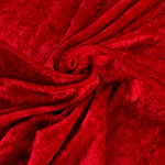 "Velvet Panne Crushed Backdrop Velour Stretch Fabric 60"" Wide By Yard, Draping, Curtains, Appeal Dresses 100% Polyester Red"