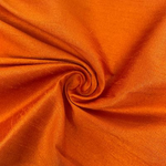"Poly Dupioni Raw Silk Dupioni Fabric - 58/60"" - Sold By Yard - 100% Polyester. Bright Orange"
