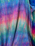 Tie Dye Rainbow/Iridescent Metallic Foil Dragon Scales Spandex Fabric Sold by Yard (Stretch Fabric)