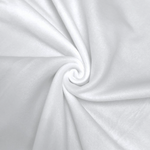 "Solid Polar Fleece Anti-Pill Fabric Sold By Yard 60"" Width Winter Polar Blankets Covers 2 Sided Brushed. WHITE"