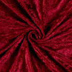 "Velvet Panne Crushed Backdrop Velour Stretch Fabric 60"" Wide By Yard, Draping, Curtains, Appeal Dresses 100% Polyester Burgundy"