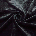"Velvet Panne Crushed Backdrop Velour Stretch Fabric 60"" Wide By Yard, Draping, Curtains, Appeal Dresses 100% Polyester Black"