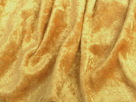 "Velvet Panne Crushed Backdrop Velour Stretch Fabric 60"" Wide By Yard, Draping, Curtains, Appeal Dresses 100% Polyester Gold"