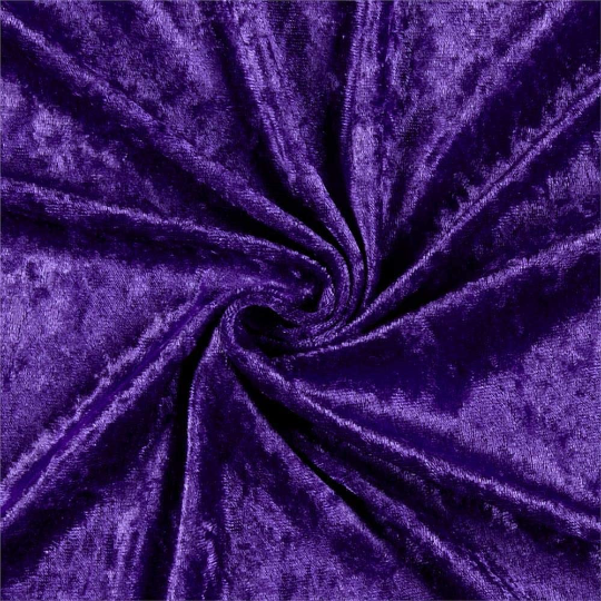 "Velvet Panne Crushed Backdrop Velour Stretch Fabric 60"" Wide By Yard, Draping, Curtains, Appeal Dresses 100% Polyester Purple"