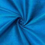 "Poly Dupioni Raw Silk Dupioni Fabric - 58/60"" - Sold By Yard - 100% Polyester. Turquoise"