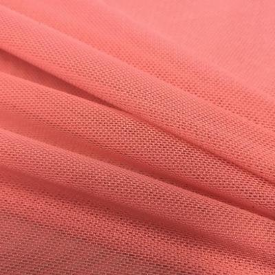 "Power Mesh Fabric Nylon Spandex 60"" wide Stretch Sold By Yard Coral"