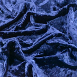 "Velvet Panne Crushed Backdrop Velour Stretch Fabric 60"" Wide By Yard, Draping, Curtains, Appeal Dresses 100% Polyester Navy"