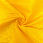 "Poly Dupioni Raw Silk Dupioni Fabric - 58/60"" - Sold By Yard - 100% Polyester. Bright Yellow"
