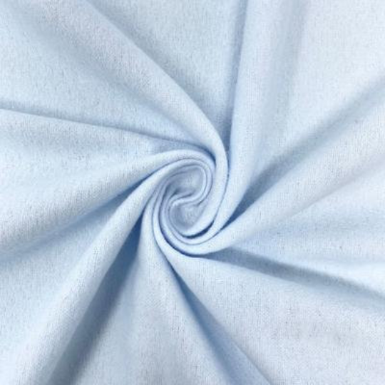 "Organic Cotton Flannel - Cotton Flannel - Fabric - 44/45"" Fabric Sold By Yard Light Blue"
